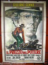 Il Prezzo del Potere {Giuliano Gemma} Italian 2F Movie Poster 60s