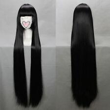 K-ON Gintama mio Shana Cosplay Perücke wig lang long schwarz black Pony 80cm