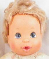 Vintage Ideal Doll Vinyl Head Cloth Body 1979 Pull String Missing As Is Cond