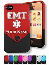 Personalized Engraved iPhone 4 4G 4S Case/Cover - PARAMEDIC - EMT - STAR OF LIFE