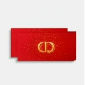 2 x DIOR Red Lucky Money Envelopes Chinese Lunar New Year Limited VIP SET OF 8