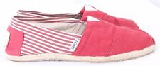 TOMS Classic Red Stripes Canvas Casual Espadrille Slip On Loafers Men's US 8