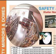 """Wide Angle View -Convex Mirror for Safety & Security , Se-Kure-View 26"""" Nib"""