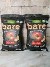 2 - 14 oz Packs Bare Organic Apple Chips Snacks Fuji & Red Baked Crunchy