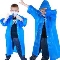 Kids Rain Coat Poncho Waterproof Emergency Raincoat Outdoor Protective USA