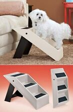 Pet Ladder Dog Cat Puppy Stairs Steps Ramp Portable Folding Convertible Bed Sofa