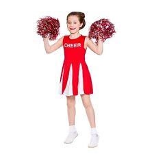 Wicked Costumes Girls Cheerleader Fancy Dress Red White