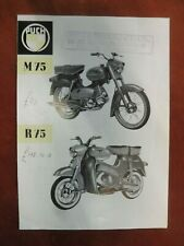 Puch Scooter, Moped M75 R75 sales leaflet   G