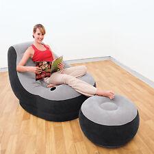 Poltrona gonfiabile lounge intex divano sofa con poggiapiedi portatile 68564