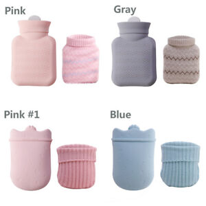 Hot Water Bottle Winter Warm Bag With Soft Knitting Cover 300ml/500ml for Gift