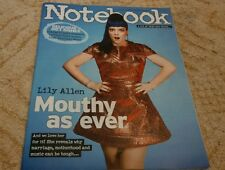 UK SUNDAY MIRROR NOTEBOOK MAGAZINE LILY ALLEN 21/09/14