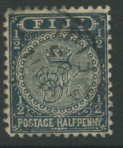 Fiji SG95 1894 1/2d greenish slate Used