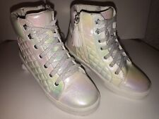 New listing Girls Justice High Top Iridescent Shoes Size 5
