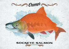 15/16 UPPER DECK CHAMPS FISH #F-25 SOCKEYE SALMON *18919