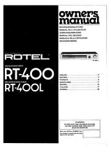 Rotel RT-400 Tuner Owners Instruction Manual