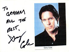 AMERICAN ACTOR GARY COLE HANDSIGNED 5 x 4 AUTOGRAPH ALBUM PAGE