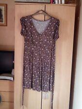 TU Petite Brown Floral Print Dress Size 12