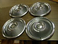"NOS OEM Ford 1967 Mercury Cougar Wheel Covers Hub Caps 14"" Set Emblem Trim"