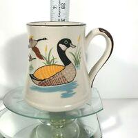 Vintage Mallard Duck Coffee Mug Ducks Fly & Swim In Reeds Teal Style Tea Cup C1