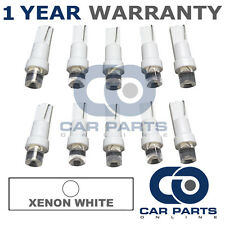 10X T5 286 74 17 18 WHITE DASHBOARD CHECK ENGINE LIGHT SHIFTER CONCAVE LED BULBS