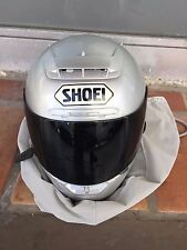 SHOEI X 11-ELEVEN METALLIC SILVER/GRAY MOTORCYCLE HELMET WITH CASE SIZE-LARGE