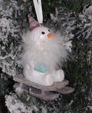Bonhomme de Neige sur Luge Noël Décorations D'Arbre Déco Décoration 10 4 7 Cm