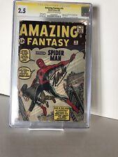 Amazing Fantasy #15 September 1962 cgc 2.5 STAN LEE SIGNED!!