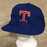 VTG Texas Rangers Adult OSFA Blue Mesh Trucker Snapback Hat Cap MLB Baseball