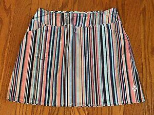 Jo Fit Athletic Skort Skirt w/Shorts Sz M Multicolor Golf Tennis Stretch Pockets
