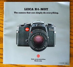 Leica R4-MOT Brochure - English 54-Pages - PERFECT