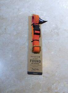 828  FOUND Orange Braided Dog Collar S Small 8.5-11.5 in
