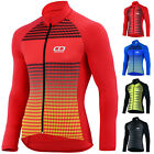 Didoo Cycling Jersey Long Sleeve Mens Thermal MTB Full Zip Winter Bicycle Tops