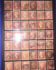 1858-1864 SG43 Penny red plates 71 to 140 All PG Used