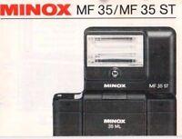 MINOX MF 35/MF 35 ST - Gebrauchsanleitung - B1972