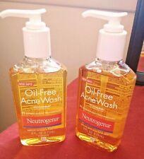 2 Neutrogena Oil-Free Acne Wash- 6 oz Total 12 oz