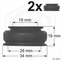 Ball joint rubber boot dust cover universal 2 x 19x28x16 track rod end Car Van