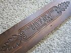 1890 Embossed Wood Warranty Sign Victorian Oak? GEORGE P BENT Organ Maker Plaque