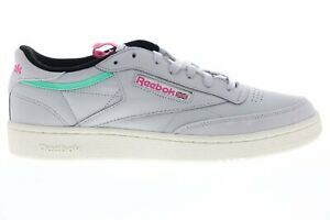 Reebok Classic Club C 85 GREY TEAL BLUE PINK WHITE BS5151 Casual Shoes Trainers