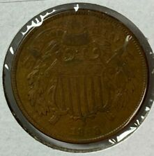 1868 Very Fine VF Two Cent Piece 2C