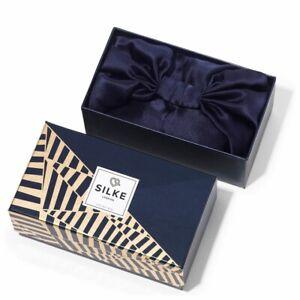 Silke London Silk Hair Wrap in The Kate (Navy)