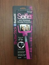 Tzumi Selfie Stick SelfPortrait Monopod w/ Bluetooth Remote Cell Phone Pink new