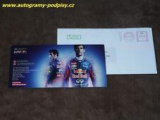 Mark WEBBER - 2012 Red Bull Karte/card, 10x21 cm + cover