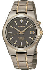 SEIKO SKA214P1,Men KINETIC,TITANIUM Case & Bracelet,Date,NEW,100m WR,SKA214