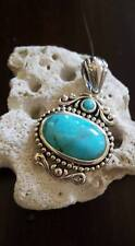 Stunning Genuine Turquoise & .925 Sterling Silver Pendant NWOT
