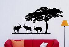 Safari Wall Decal Vinyl Sticker African Animals Home Interior Art Decor (2sfr1)
