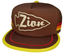 Zion Utah Arrowhead 3 Stripe Snapback Mesh Trucker Hat Cap National Park