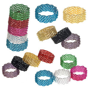100pcs Wholesale Mixed Lot Colorful Rings Finger Band Tail Ring Jewelry Randomly
