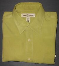 TOMMY BAHAMA EARTH GREEN  HIGH QUALITY L/S ALL SILK DRESS SHIRT TB6184A7