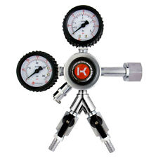 Kegco Hl-62-2 Premium Commercial Grade Dual Gauge Two Product Co2 Regulator