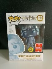 Funko Pop Harry Potter Nearly Headless Nick SDCC 2018-Glow in the dark-Brilla